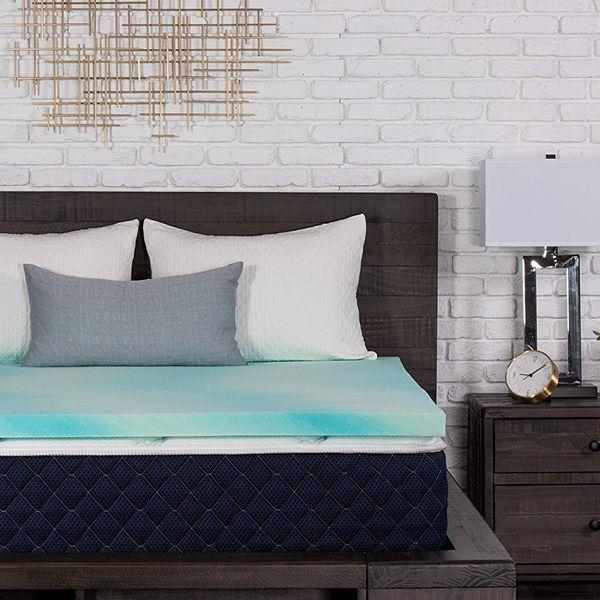 DreamFoam Bedding 2-Inch Gel Swirl Memory-Foam Topper, Queen