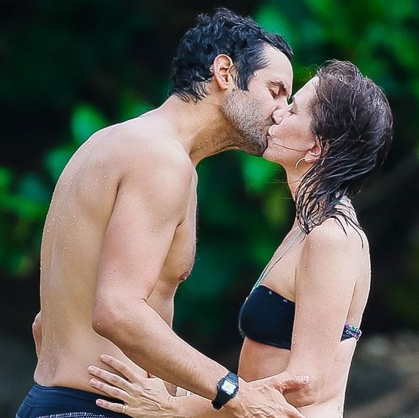Kristen Wiig's new hot boyfriend and Kristen Wiig.