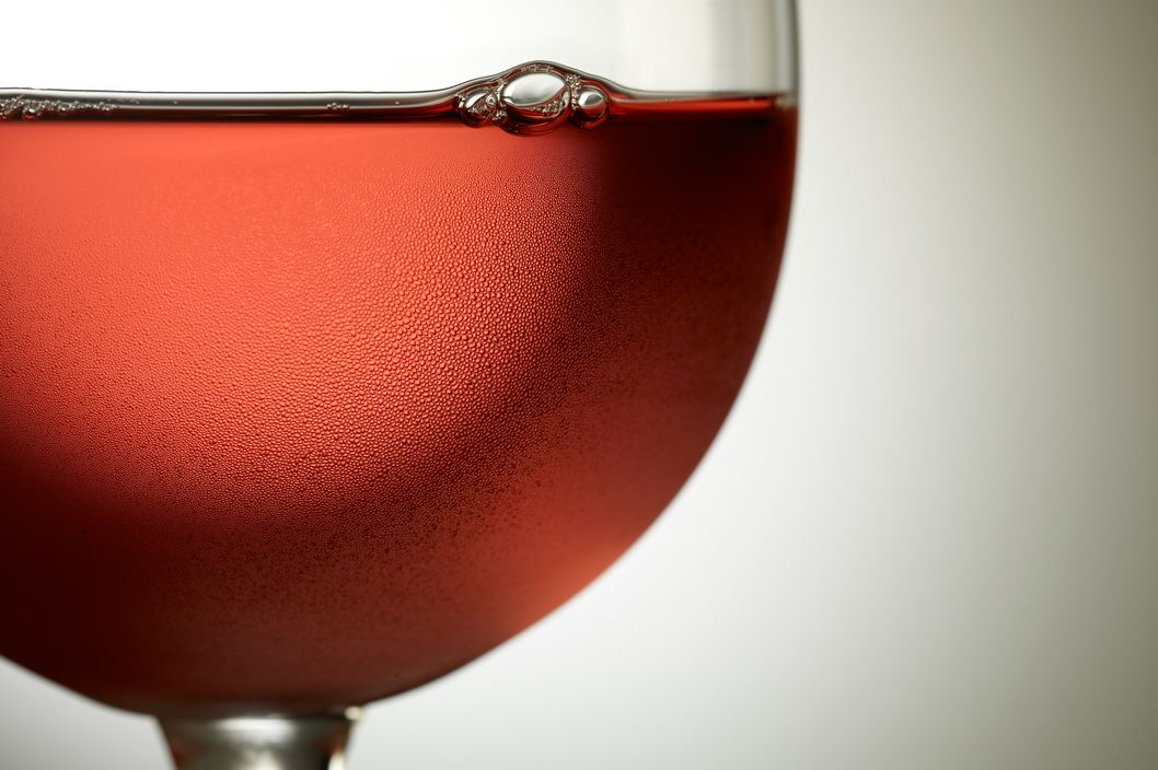 Glass of chilled Rose wine --- Image by ? Steve Lupton/Corbis