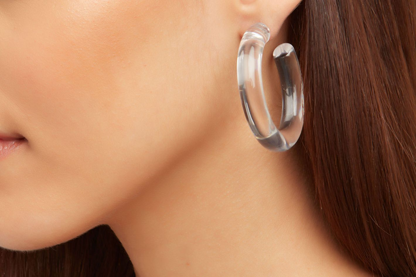 Lizzie Fortunato Clear Hoops