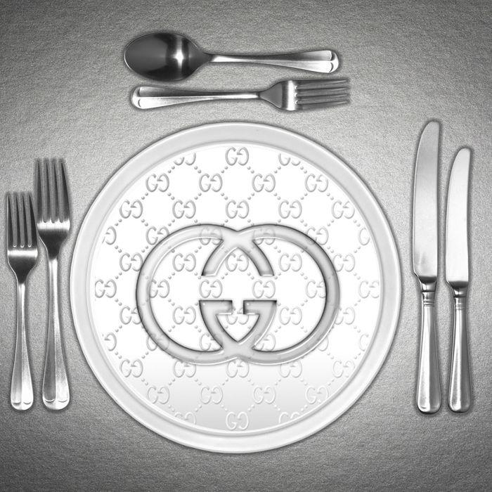 Gucci plates.