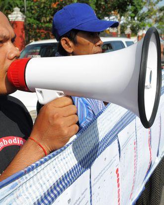 Protesters in Cambodia.