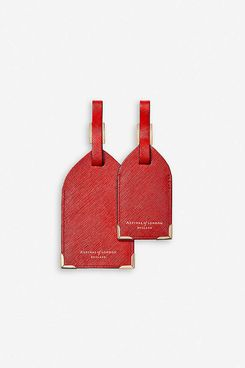 Aspinal of London Leather Luggage Tags (Set of Two)