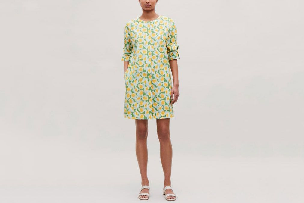 COS Knot-Detailed Printed Dress