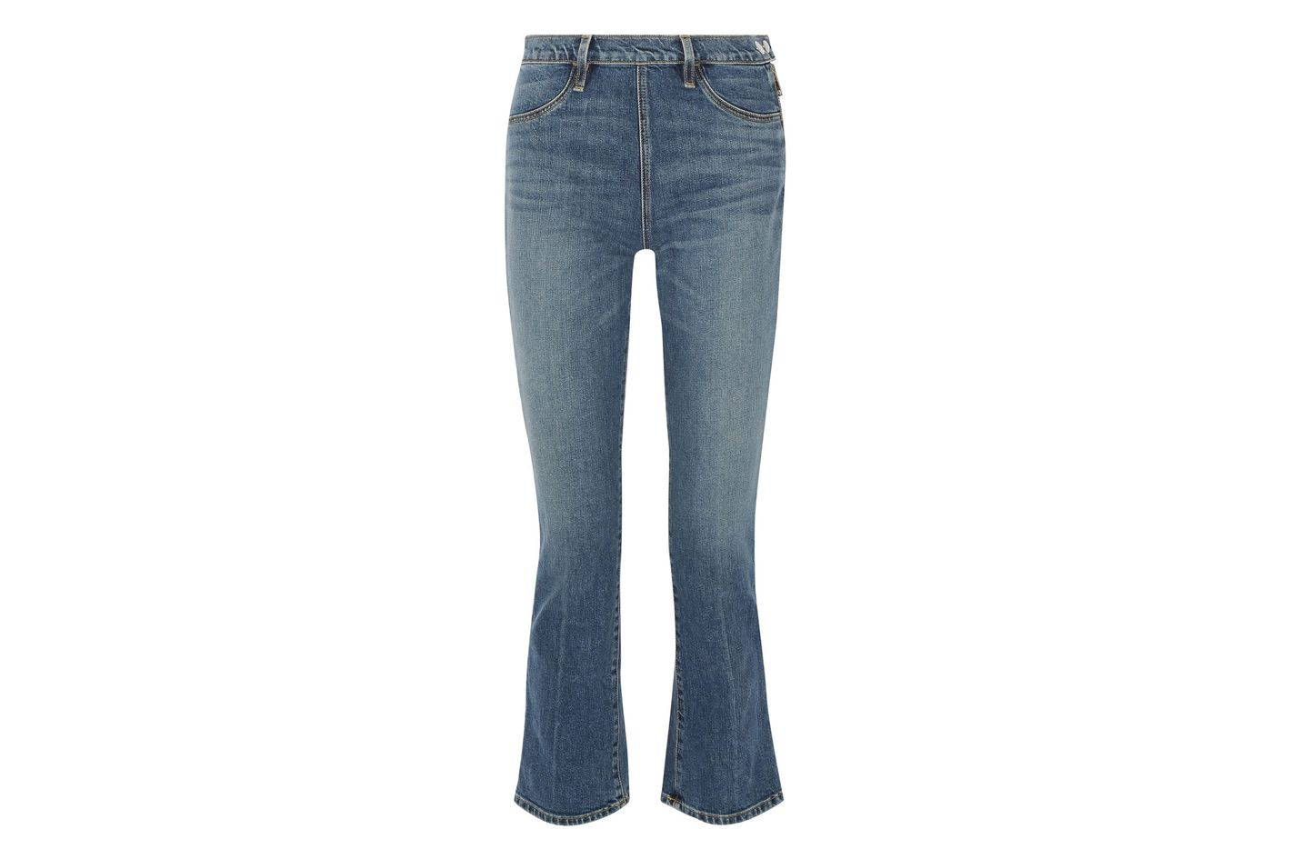 Elizabeth & James Nerd Cropped Mid-rise Flared Jeans