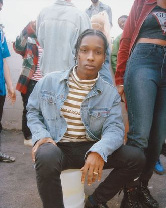 A$AP Rocky in his Throwback Thursday–esque GUESS campaign.