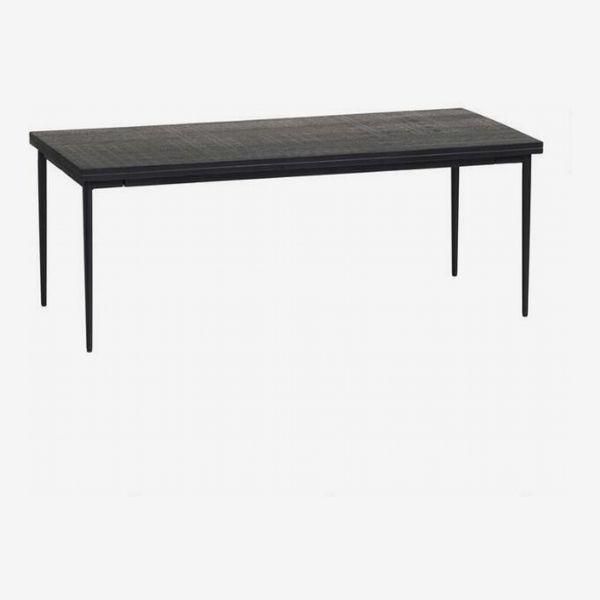 World Market Black Carved-Wood-and-Metal Samir Coffee Table