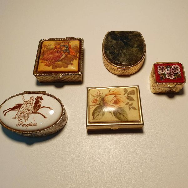 Assorted Vintage Pill Boxes