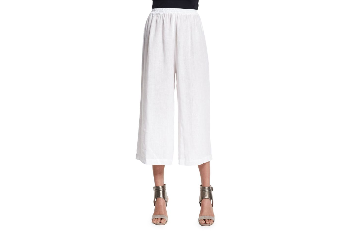 Eskandar Flared Linen Cropped Trousers