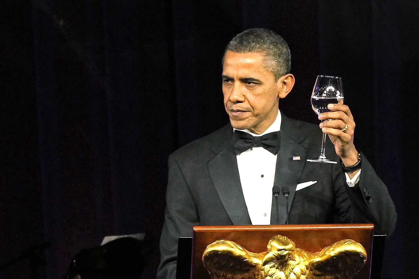What are you drinking, Mr. President?