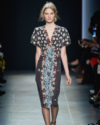 Floral embroidery at Bottega Veneta.
