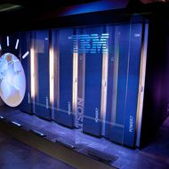 "A general view of IBM's 'Watson' computing system at a press conference to discuss the upcoming Man V. Machine ""Jeopardy!"" competition at the IBM T.J. Watson Research Center on January 13, 2011 in Yorktown Heights, New York."
