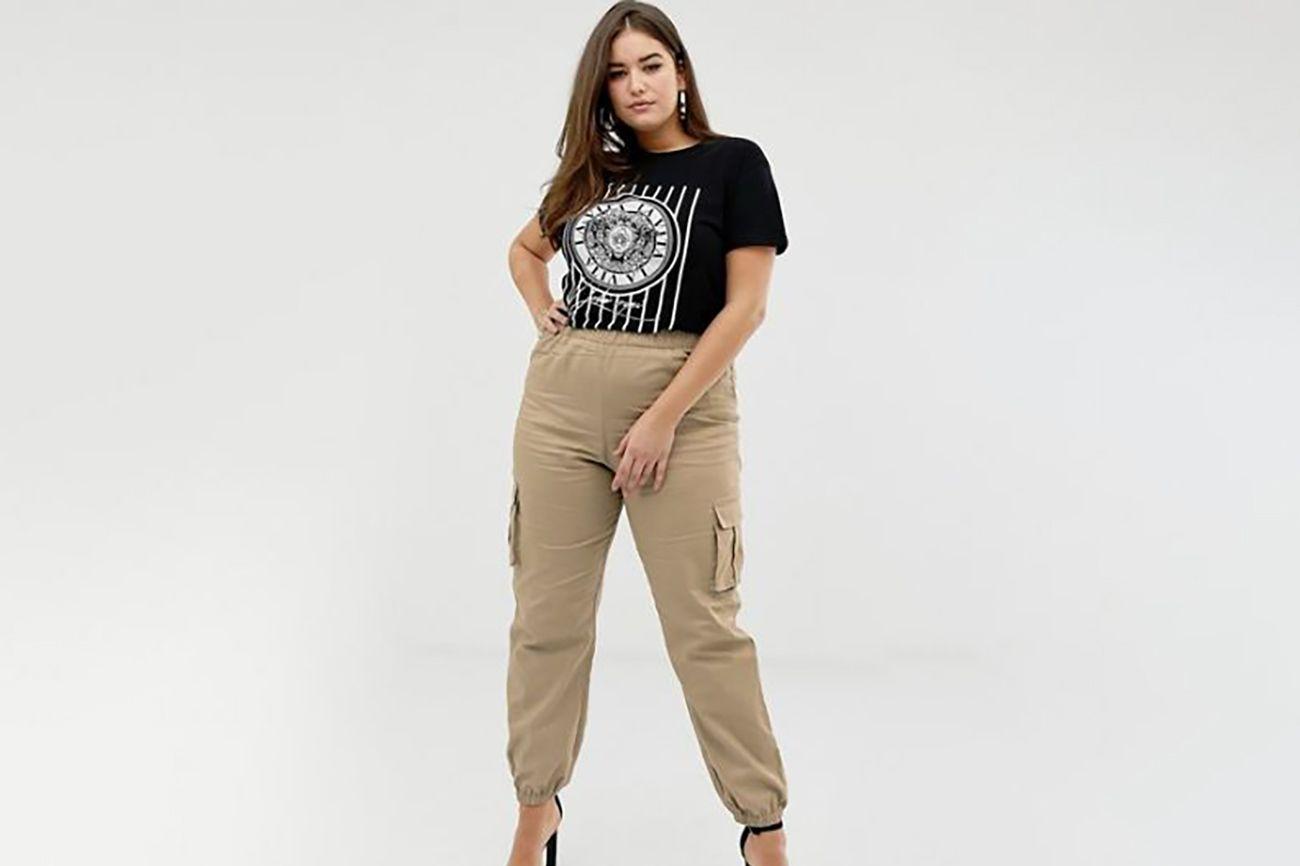 Pretty Little Thing Plus Pocket Detail Cargo Pants