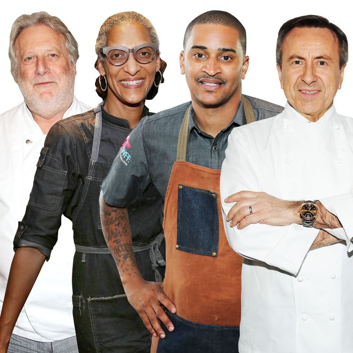 Jonathan Waxman, Carla Hall, JJ Johnson, and Daniel Boulud are all involved.