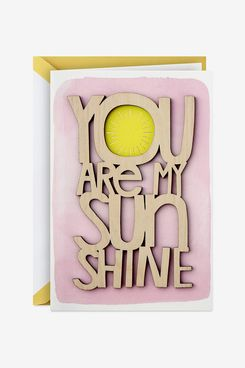 Hallmark Signature Mothers Day Card (You are My Sunshine Wood Lettering)