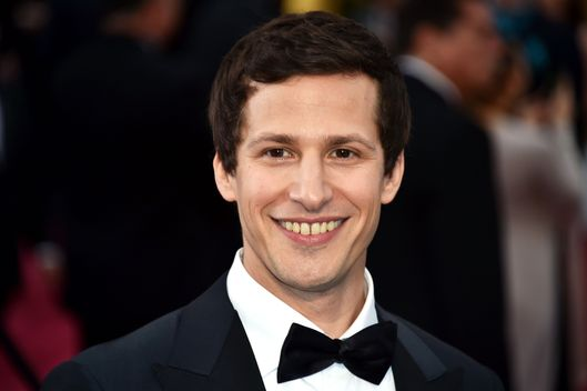 Andy Samberg poses on the red carpet for the 87th Oscars on February 22, 2015 in Hollywood, California. AFP PHOTO / MLADEN ANTONOV        (Photo credit should read MLADEN ANTONOV/AFP/Getty Images)
