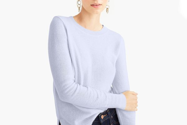 J. Crew Long-Sleeve Everyday Cashmere Crewneck Sweater
