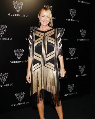 Frida Giannini, in Gucci spring 2012 from head to toe.