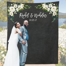 Gouttes Rougissantes Floral Wedding Photo Backdrop