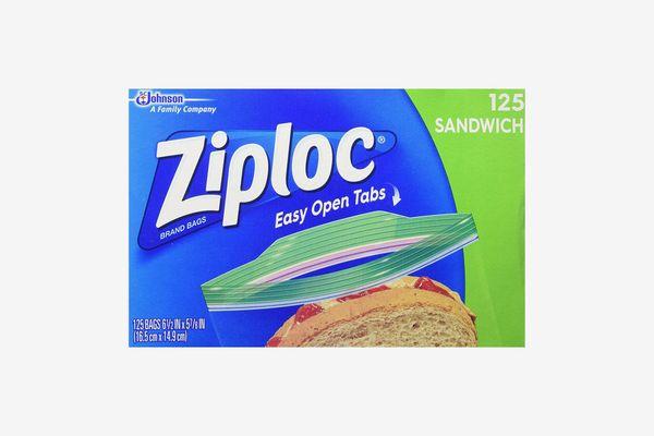 Ziploc Sandwich Bags, 125-Count