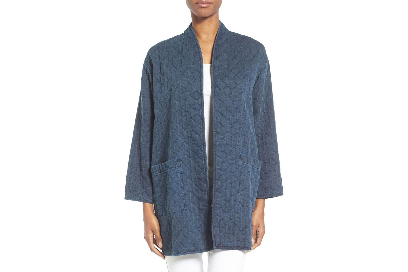 Eileen Fisher Print Denim Jacket