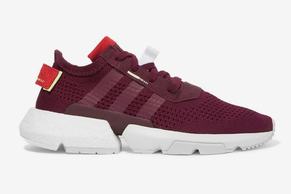 Adidas Originals POD-S3.1 suede-trimmed stretch-knit sneakers