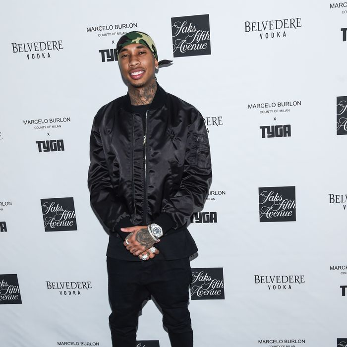 Tyga was exceedingly patient with a TMZ reporter.