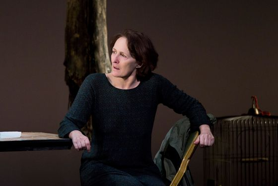 Fiona Shaw in The Testament of Mary By Colm Tóibín Directed by Deborah Warner.