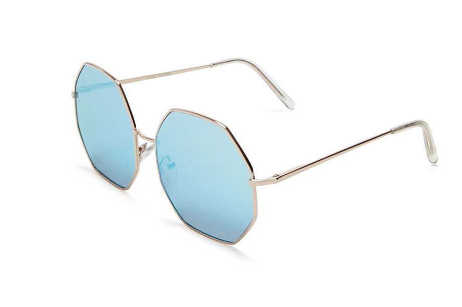 Quay Kiss and Tell Mirrored Octagon Sunglasses