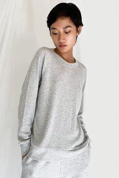 Essentials Womens Relaxed Long-Sleeve Sleep T-Shirt