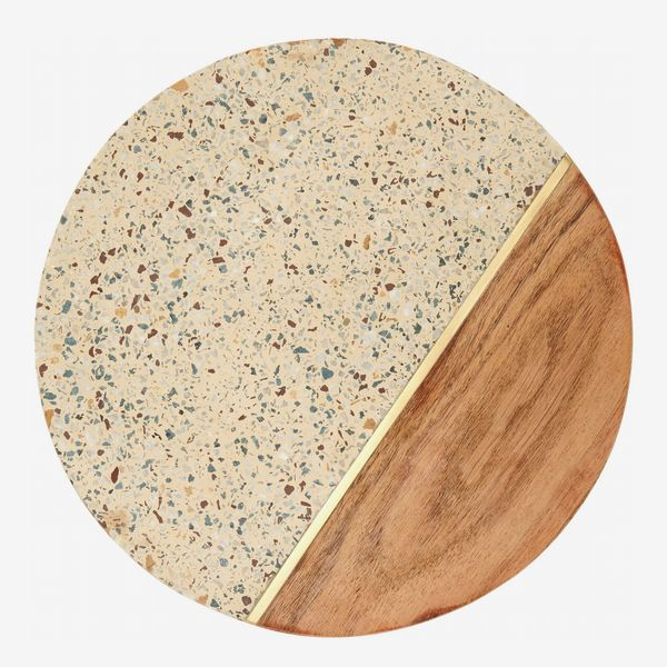 Nordstrom Terrazzo & Marble Round Serving Board