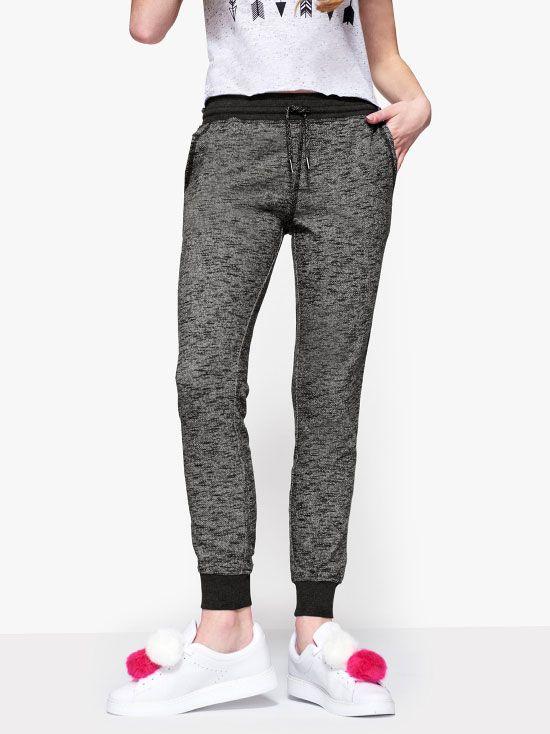 Maddie Gray Knit Jogger Pants