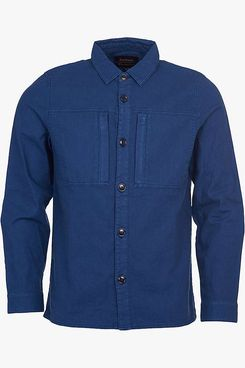 Barbour National Trust Bempton Linen Cotton Overshirt, Navy