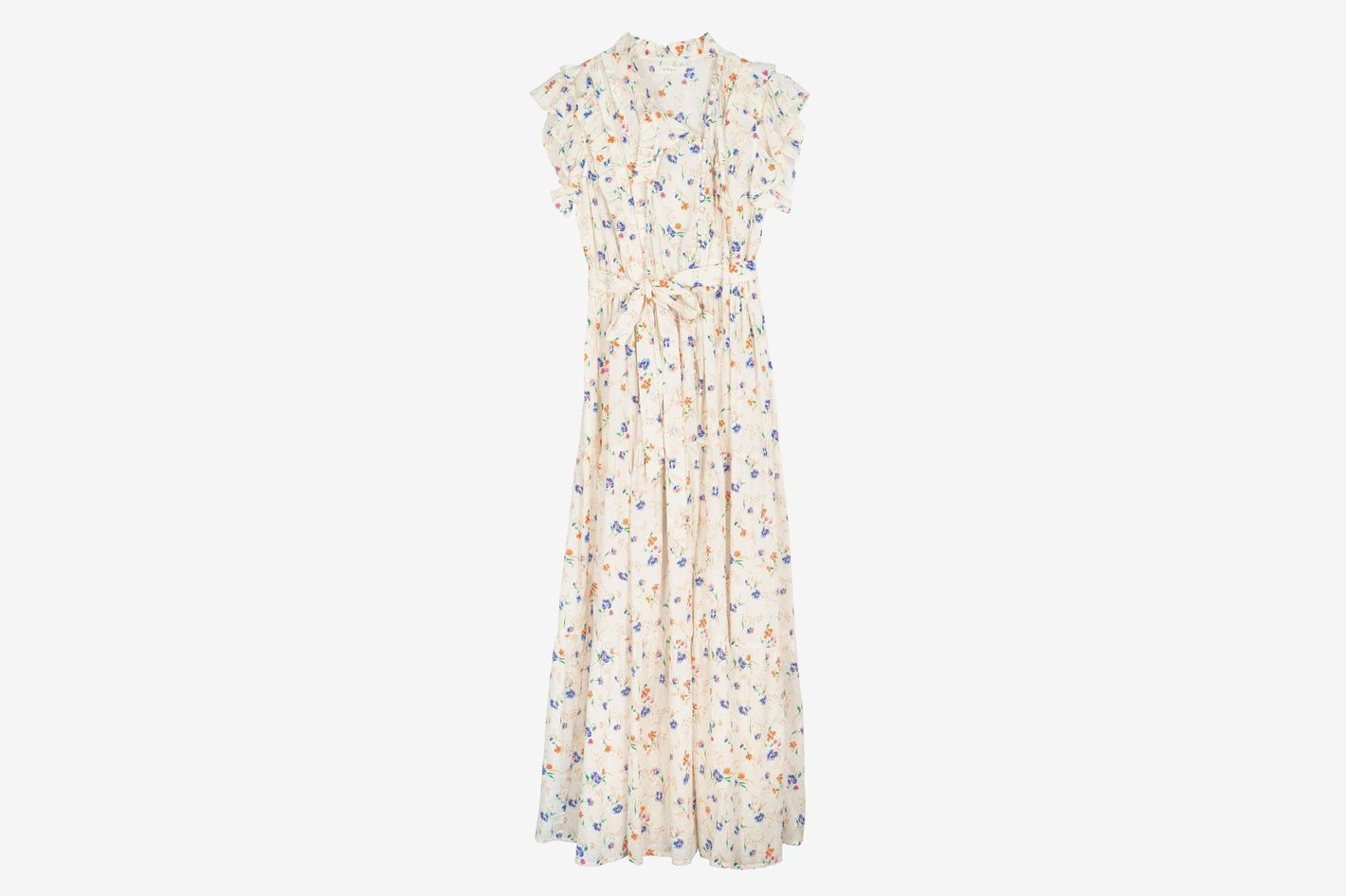 Dôen Carnation Ruffled Floral-Print Maxi Dress