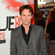 "HOLLYWOOD, CA - MAY 30:  Actors Stephen Moyer arrives at the premiere of HBO's ""True Blood"" 5th Season held at the ArcLight Cinemas Cinerama Dome on May 30, 2012 in Hollywood, California.  (Photo by Jason Merritt/Getty Images)"