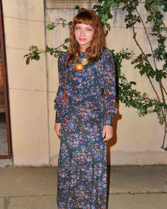 Tavi at a Miu Miu event this month.