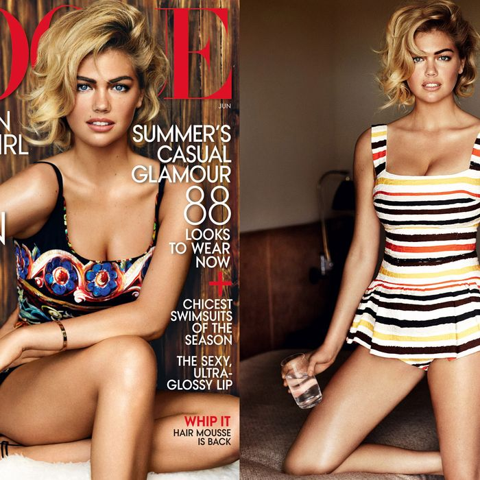 Kate Upton's June Vogue cover.