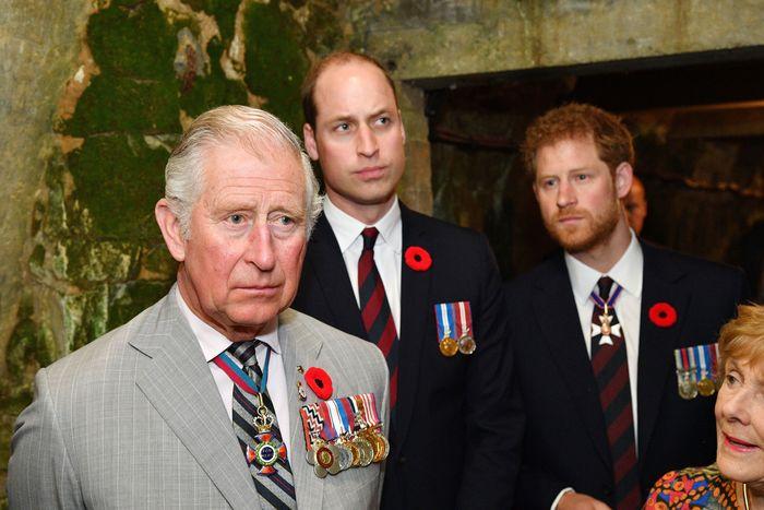 Prince Charles, Prince William, and Prince Harry.