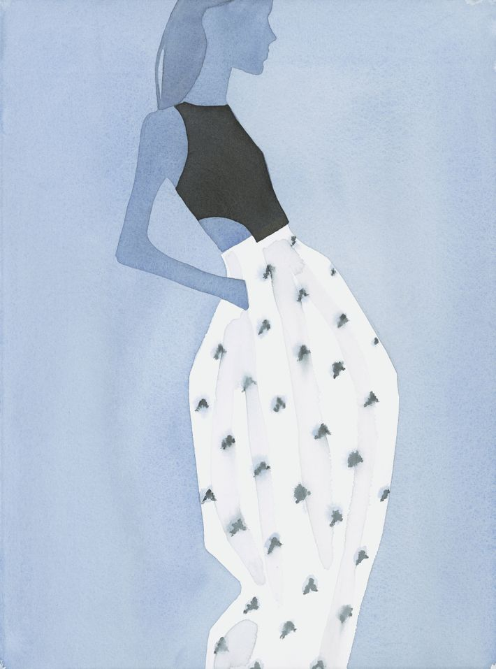 See Sublime Watercolors Of The Dior Runway By Mats Gustafson