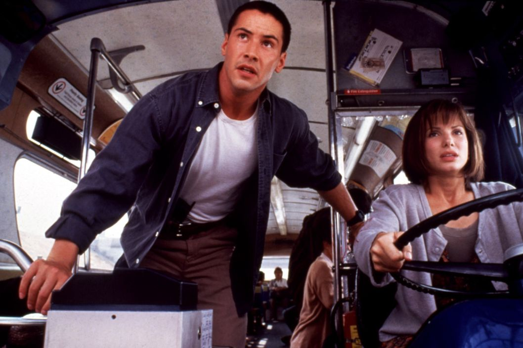 SPEED, Keanu Reeves, Sandra Bullock, 1994 TM and Copyright ? 20th Century Fox Film Corp. All rights reserved. Courtesy: Everett Collection.