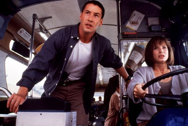 SPEED, Keanu Reeves, Sandra Bullock, 1994 TM and Copyright © 20th Century Fox Film Corp. All rights reserved. Courtesy: Everett Collection.