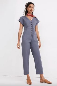 Madewell Cap-Sleeve Jumpsuit