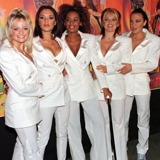 The Spice Girls attend the premiere of Columbia Pi