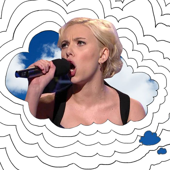 Scarlett Johansson singing.