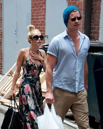 Miley Cyrus and Liam Hemsworth are seen out