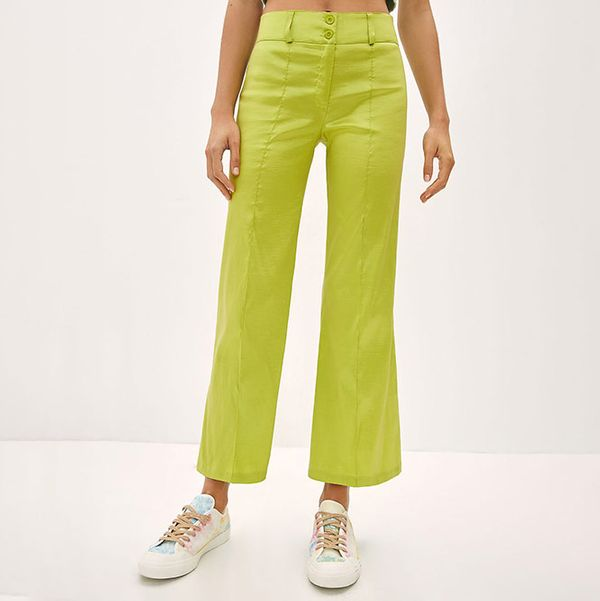 Anthropologie Cropped Flare Pants