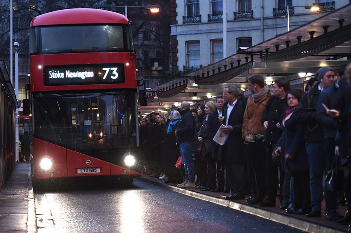Scenes Nightmare Commute In London After Tube Strike