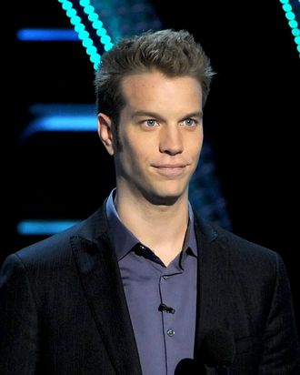 Comedian Anthony Jeselnik speaks onstage during the Comedy Central Roast of Roseanne Barr at Hollywood Palladium on August 4, 2012 in Hollywood, California.