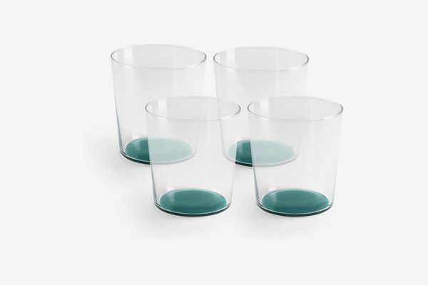 Lasiale Glasses with Coloured Bases (Set of 4)