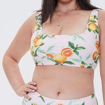 Forever21 Plus Size Orange Bralette Bikini Top